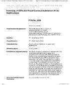 FDA (DEPT. OF HEALTH & HUMAN SERVICE, USA